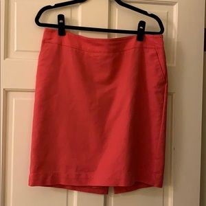 Pencil skirt- CORAL color